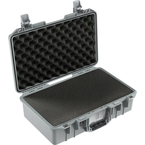 Pelican 1485AirWF Hard Carry Case with Foam Insert (Silver)