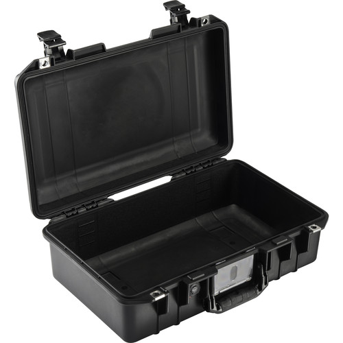 Pelican 1485AirNF Compact Hand-Carry Case (Black, No Foam/Empty)