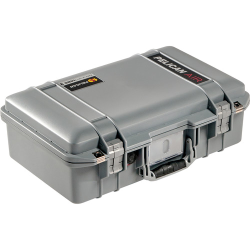 Pelican 1485AirNF Compact Hand-Carry Case (Silver, No Foam/Empty)