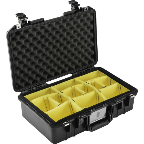 Pelican 1485AirWD Compact Hand-Carry Case with Dividers (Black)