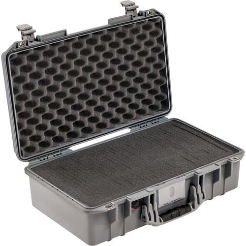 Pelican 1525AirTP Carry-On Case (Silver, with Pick-N-Pluck Foam)