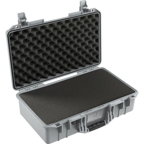 Pelican 1525AirWF Hard Carry Case with Foam Insert and Liner (Silver)