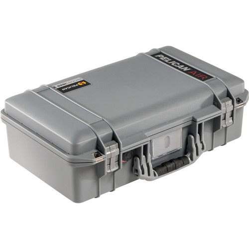 Pelican 1525AirNF Carry-On Case (Silver, No Foam/Empty)