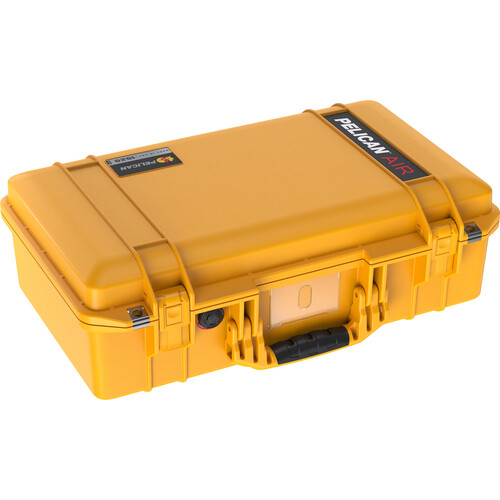 Pelican 1525AirNF Hard Carry Case with Liner, No Insert (Yellow)