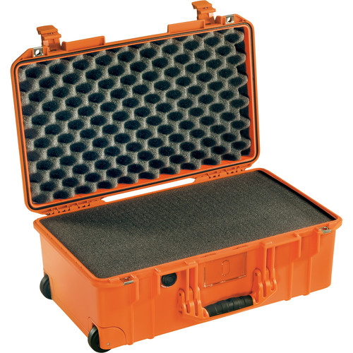 Pelican 1535 Air Wheeled Carry-On Case (Orange, with Pick-N-Pluck Foam)