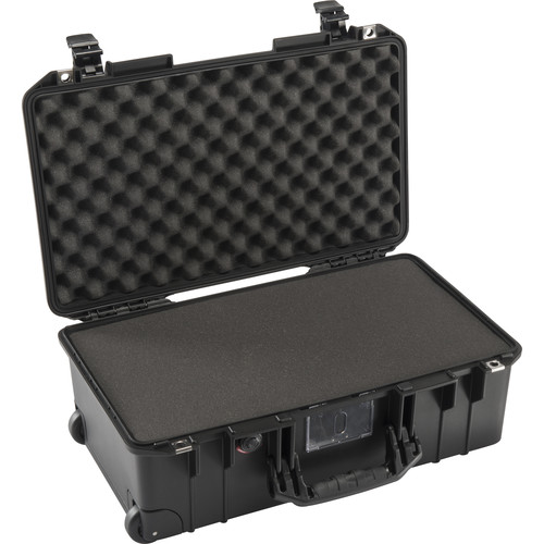 Pelican 1535 Air Wheeled Carry-On Case (Black, with Pick-N-Pluck Foam 2017)