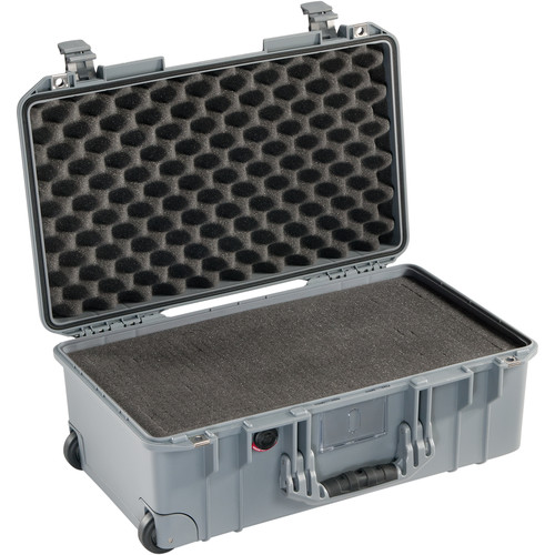 Pelican 1535 Air 2017 Wheeled Carry-On Air Case with Pick-n-Pluck Foam (Silver)