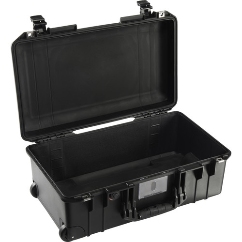 Pelican 1535AirNF Wheeled Carry-On Case (Black, No Foam/Empty)