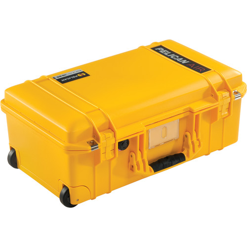 Pelican 1535AirNF Wheeled Carry-On Case (Yellow, No Foam/Empty)