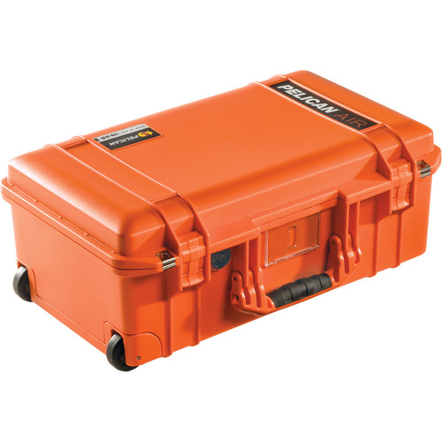 Pelican 1535AirNF Wheeled Carry-On Case (Orange, No Foam/Empty 2017)