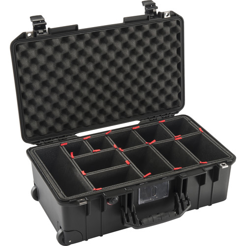 Pelican 1535AirTP Wheeled Carry-On Case (Black, with TrekPak Insert)