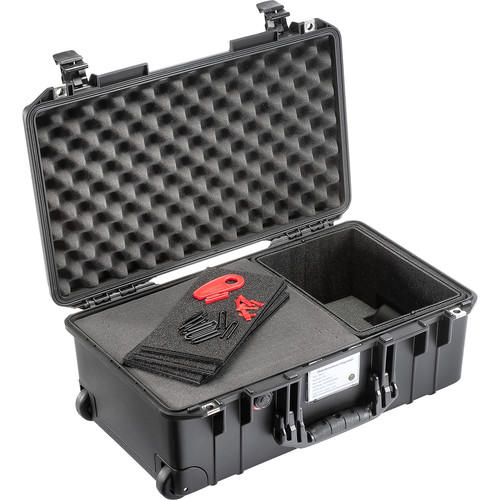 Pelican 1535AirTPF Wheeled Carry-On Air Case with TrekPak Dividers and Pick-n-Pluck Foam (Black)