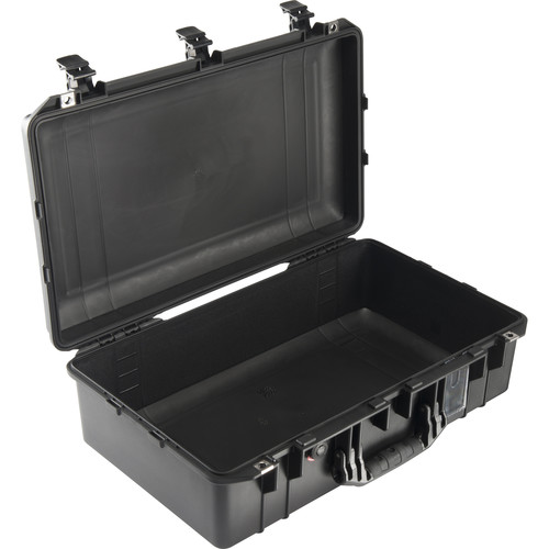 Pelican 1555AirNF Carry-On Case (Black, No Foam/Empty)