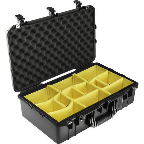 Pelican 1555AirWD Carry-On Case (Black, Dividers)