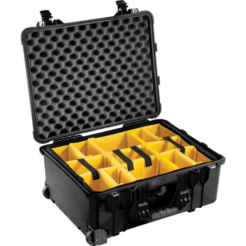 Pelican 1564 for the Waterproof 1560 Case with Yellow and Black Divider Set (Black)