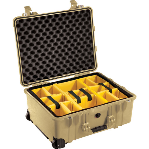 Pelican 1564 for the Waterproof 1564 Case with Yellow and Black Divider Set (Desert Tan)