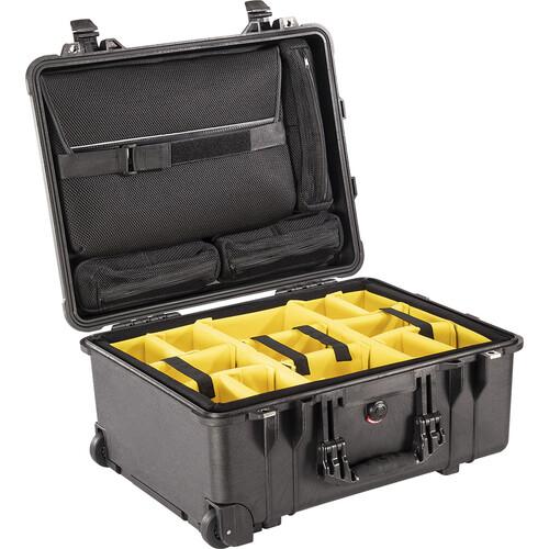 Pelican 1560SC Studio Case (Black/Black Dividers)