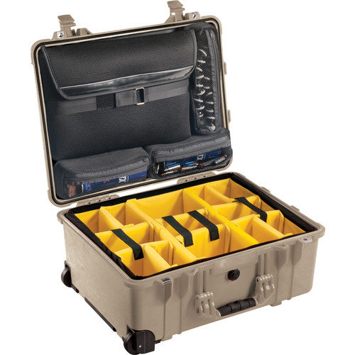 Pelican 1560SC Studio Case (Desert Tan V2/Yellow Dividers)