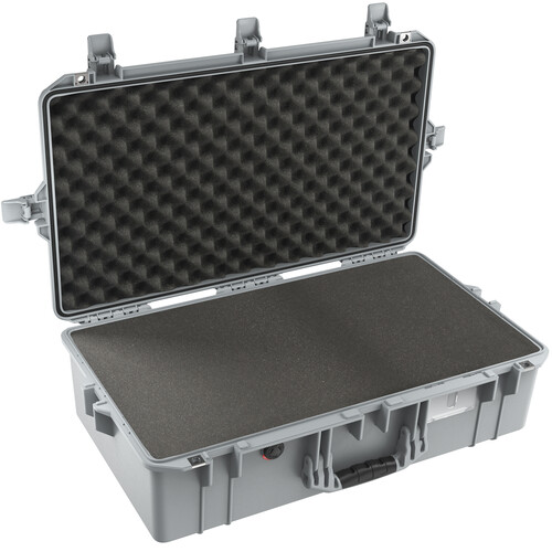 Pelican 1605AirWF Hard Carry Case with Foam Insert (Silver)