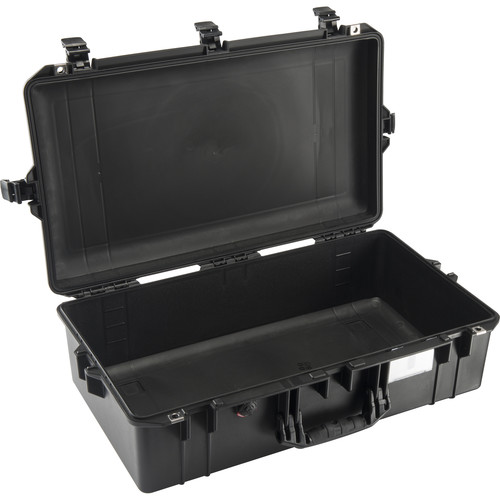 Pelican 1605AirNF Carry-On Case (Black, No Foam/Empty)