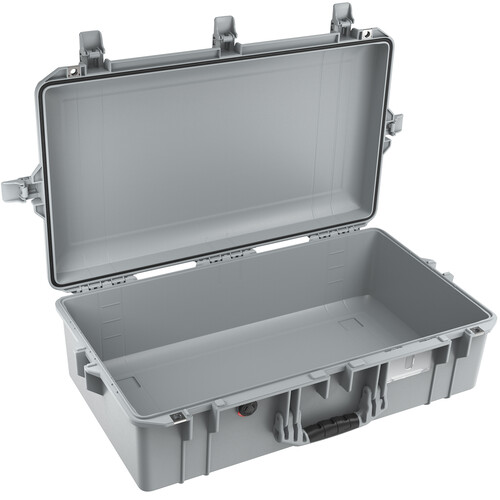 Pelican 1605AirNF Hard Carry Case with Liner, No Insert (Silver)