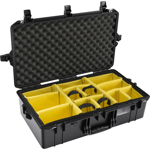 Pelican 1605AirWD Hard Carry Case with Padded Divider Insert (Black)