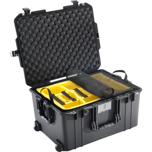 Pelican 1607 Air Case (Black, Padded Dividers)