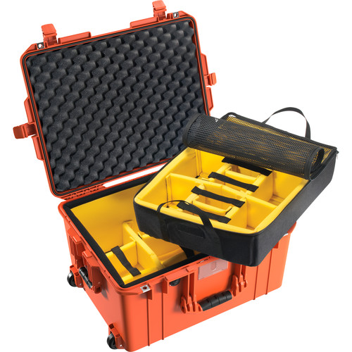 Pelican 1607 Air Case (Orange, Padded Dividers)