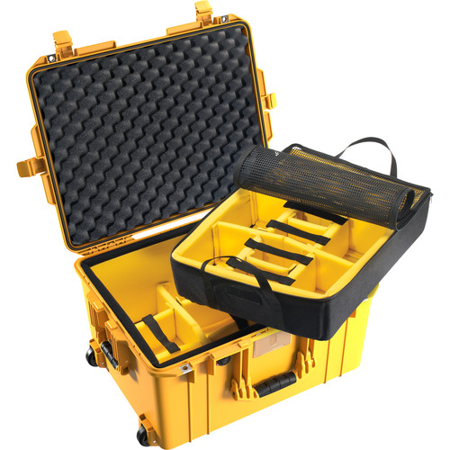 Pelican 1607 Air Case (Yellow, Padded Dividers)