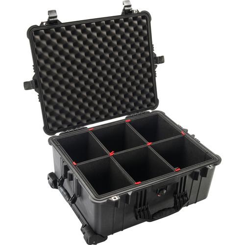 Pelican 1610TP Case with TrekPak Divider System (Black)