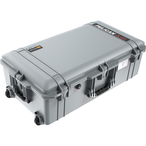 Pelican 1615Air Wheeled Check-In Case with Pick-N-Pluck Foam (Silver)