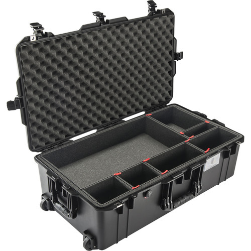 Pelican 1615AirTP Wheeled Check-In Case (Black, with TrekPak Insert)