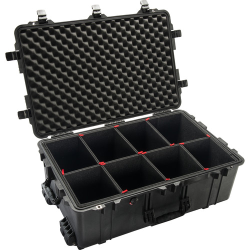 Pelican 1650TP Case with TrekPak Divider System (Black)