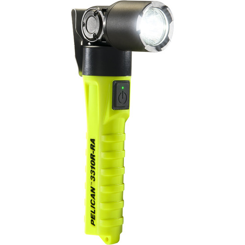 Pelican 3310R-RA Right-Angle Rechargeable FlashLight (Yellow)