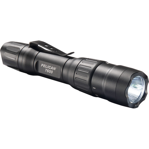 Pelican 7600 Rechargeable Tactical Tri-Color Flashlight (Matte Black)