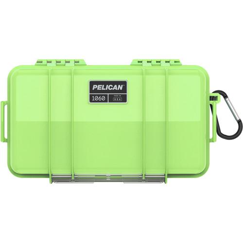Pelican 1060 Solid Micro Case (Black/Bright Green)