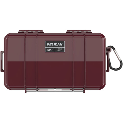 Pelican 1060 Solid Micro Case (Black/Oxblood)