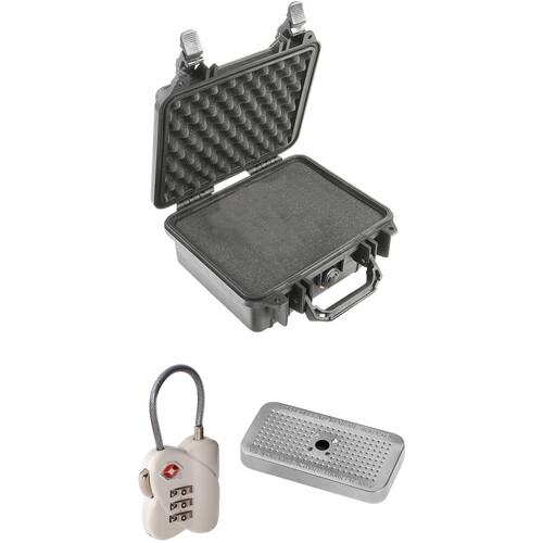 Pelican 1200 Case with Foam Set, TSA Lock, and Desiccant Gel (B&H Kit)