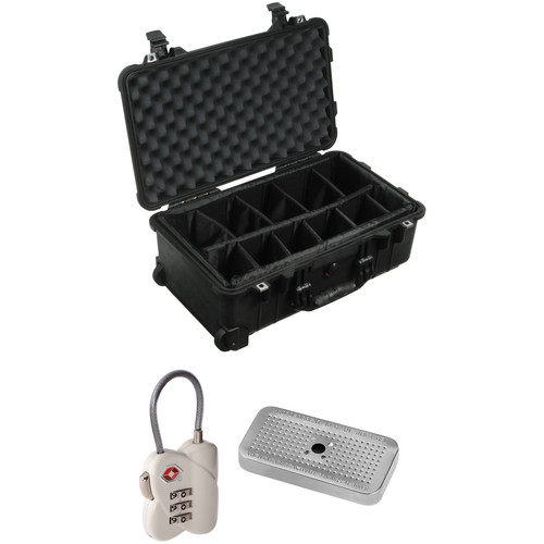 Pelican 1510 Carry On Case with Divider Set, TSA Lock, and Desiccant Gel Pack (B&H Kit)