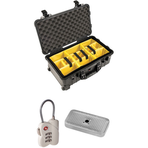 Pelican 1510 Case with Yellow and Black Divider Set, TSA Lock, Desiccant Gel (B&H Kit)