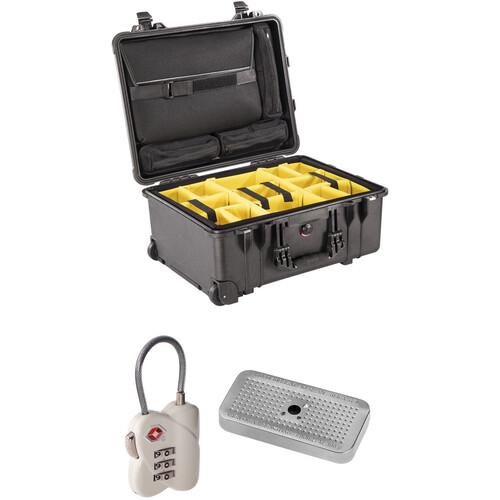 Pelican 1560 SC Case with Dividers, Lid Organizers TSA Lock, Desiccant Gel (B&H Kit)