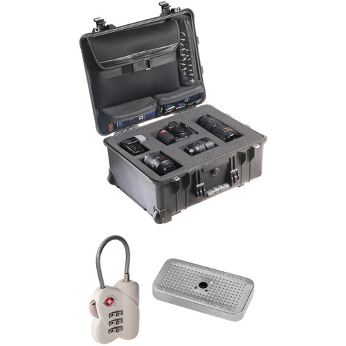 Pelican 1560LFC CS Case with Foam, 3-Dial TSA Lock, Desiccant Gel (B&H Kit)