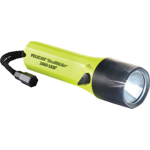 Pelican 2460B StealthLite Rechargeable Flashlight (Yellow)