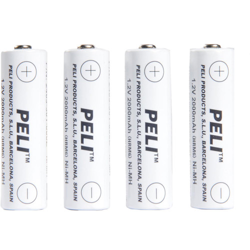 Pelican 2469P AA Rechargeable NiMH Batteries (1.2V, 2000mAh, 4-Pack)