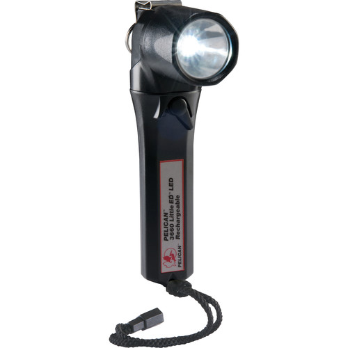 Pelican 3660 Little Ed Rechargeable LED Flashlight v.2 (Black, With Charger)
