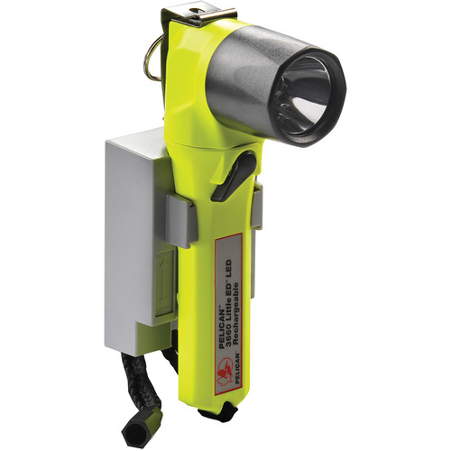 Pelican 3660C Little-ED 240V Rechargeable LED Flashlight with Base (Hong Kong, Yellow)