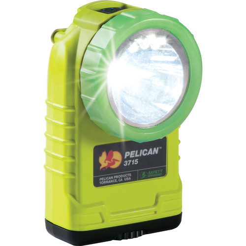 Pelican 3715PL Right Angle Light (Yellow with Photoluminescent Shroud)