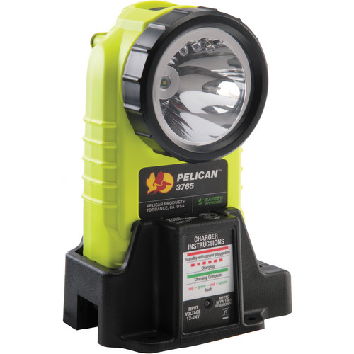 Pelican 3765 Rechargeable LED Flashlight (Yellow, with Charger)