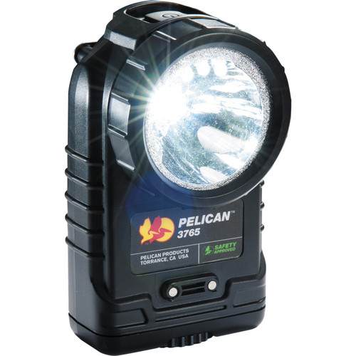 Pelican 3765 Rechargeable LED Flashlight (Black, without Charger)