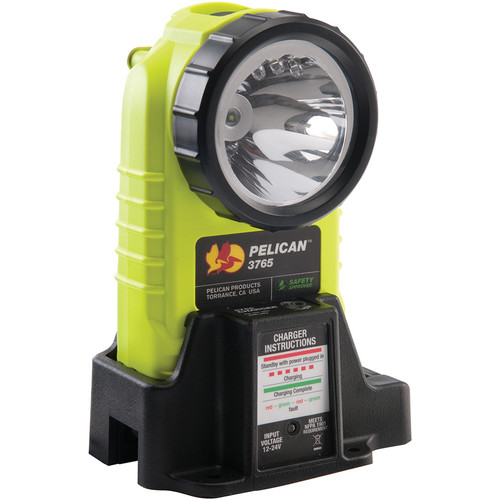 Pelican 3766 Right Angle LED Rechargeable Flashlight (Yellow)
